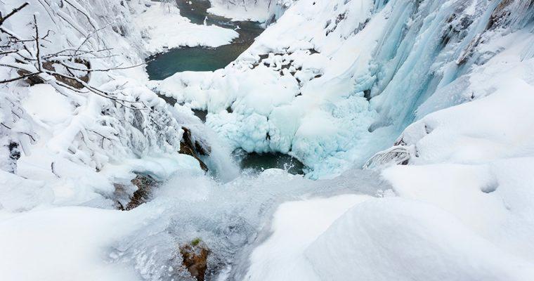 Frozen Plitvice Lakes