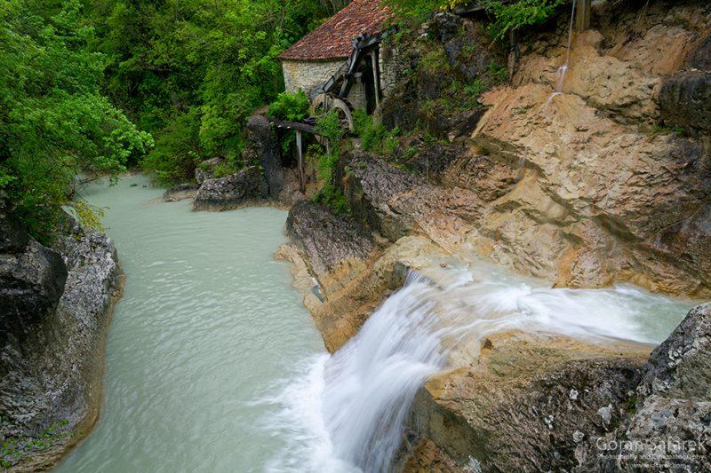 Kotli – beautiful watermill in small canyon
