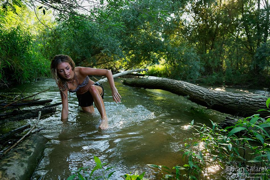 girl, model, beauty, amazon, wild, drava, naked, nude, wilderness, girl on river