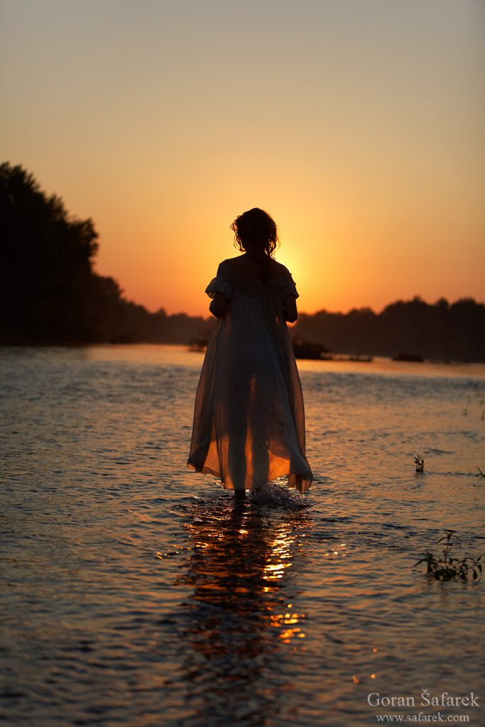 gitl, beautiful, river fairy, model, drava, dress, beautiful, young