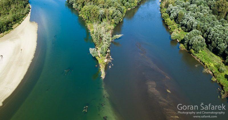 river, confluence,mouth,drava,mura,lowland,plain