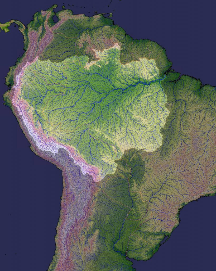 amason, basin, river, tributaries