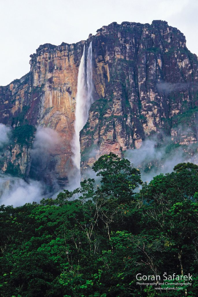 waterfall, south america, canaima,llanos, tepui, angel falls,