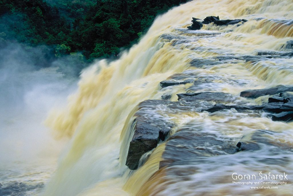 waterfall, south america, canaima,llanos, tepui, angel falls, sapo