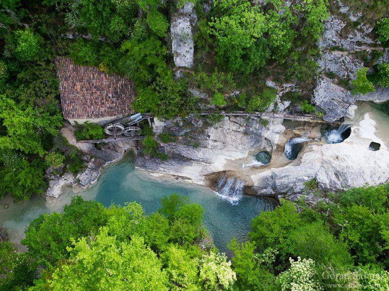 croatia, kotli, river,watermill, canyon