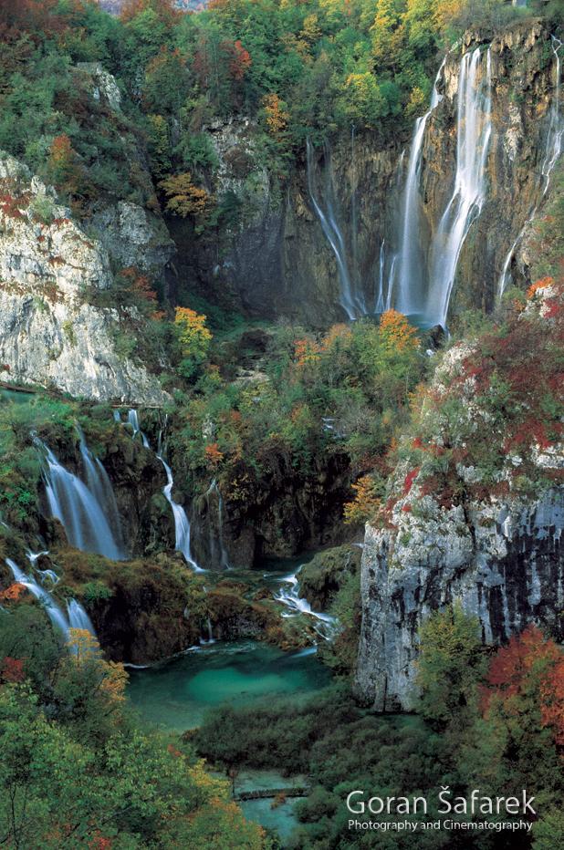 plitvice lakes, waterfall, croatia, falls, lakes, autumn,