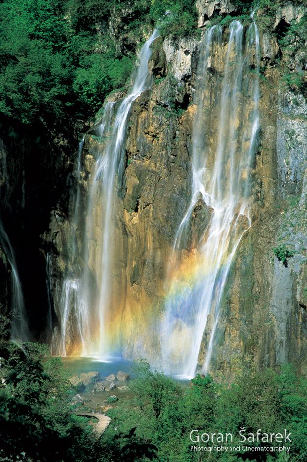 waterfall, cascade, croatia, rivers, Plitvice lakes