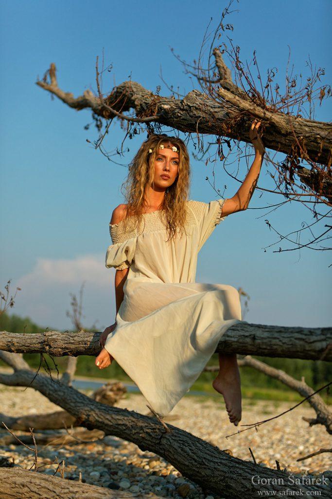 gitl, beautiful, river fairy, model, drava, dress, beautiful, young