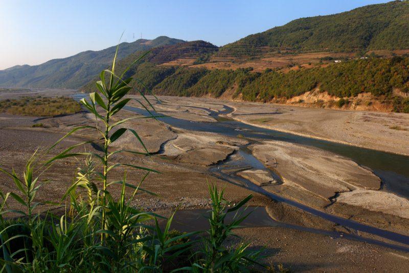 Devoli River, Albania, world, rivers, braided stream,