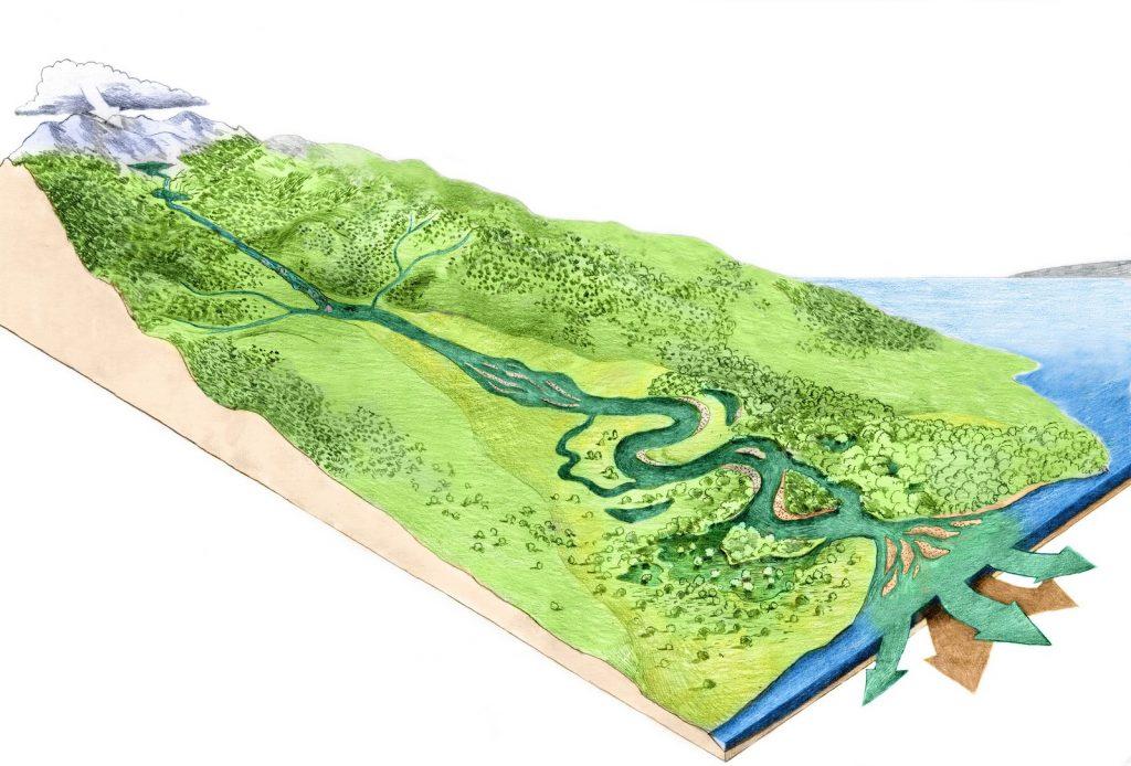 river, longitudinal profile, scheme,image