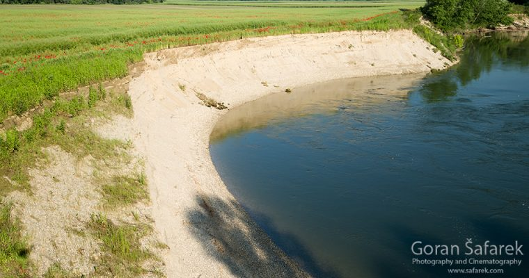 Steep eroded banks