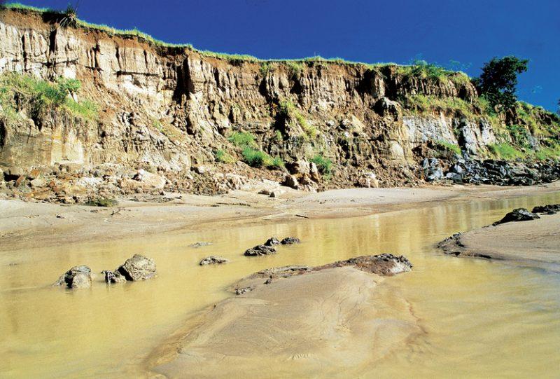 Amazon river mud and sand bars