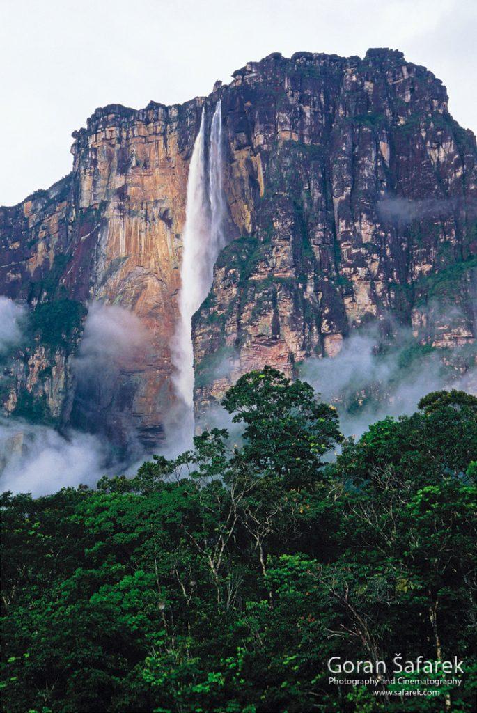 waterfall, south america, canaima,llanos, tepui, angel falls,