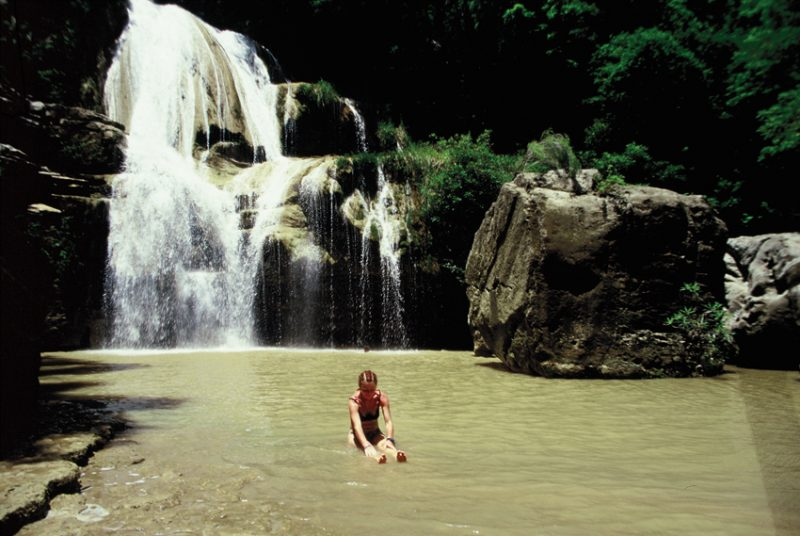 The Tsiribina River, oasis,dry, west, Madagascar, river, paddling, waterfall