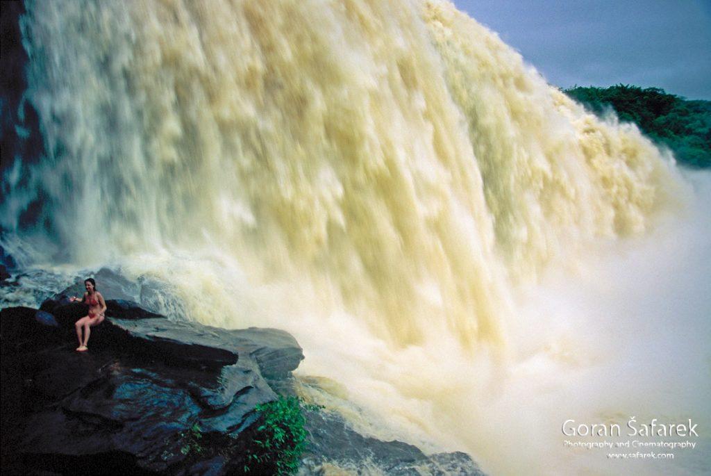 waterfall, south america, canaima,llanos, tepui, angel falls, sapo