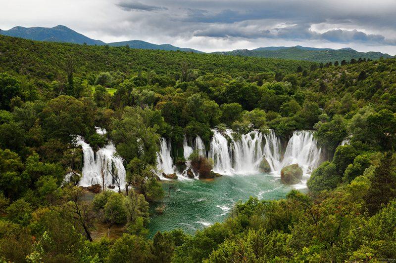 Kravica waterfall in Bosna and Herzegovina