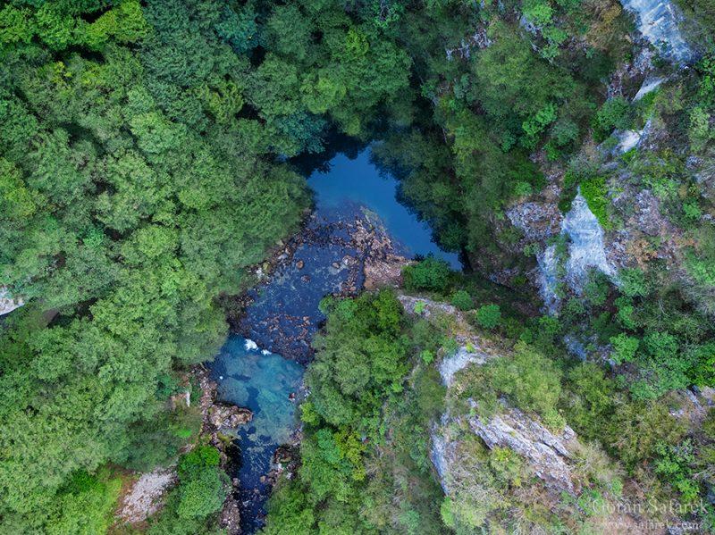 una, river, source, croatia, spring