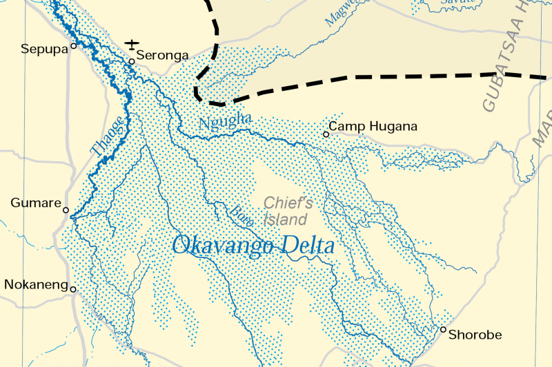 Rivers that disappear in the continents